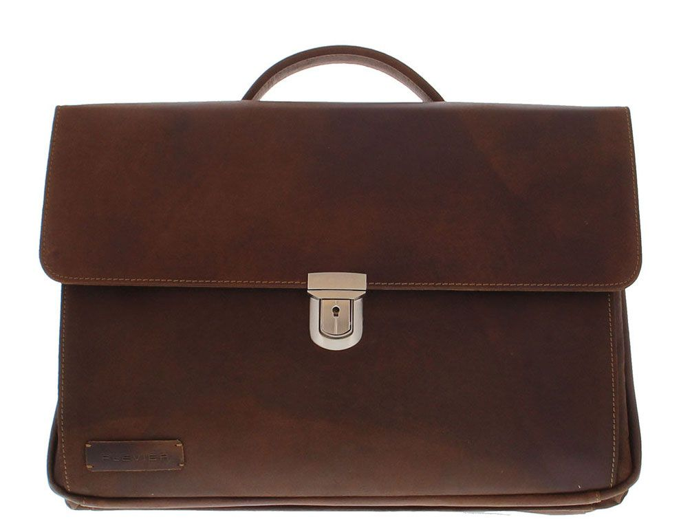 Plevier Business Laptoptas 36 Donkerbruin 17.3 inch