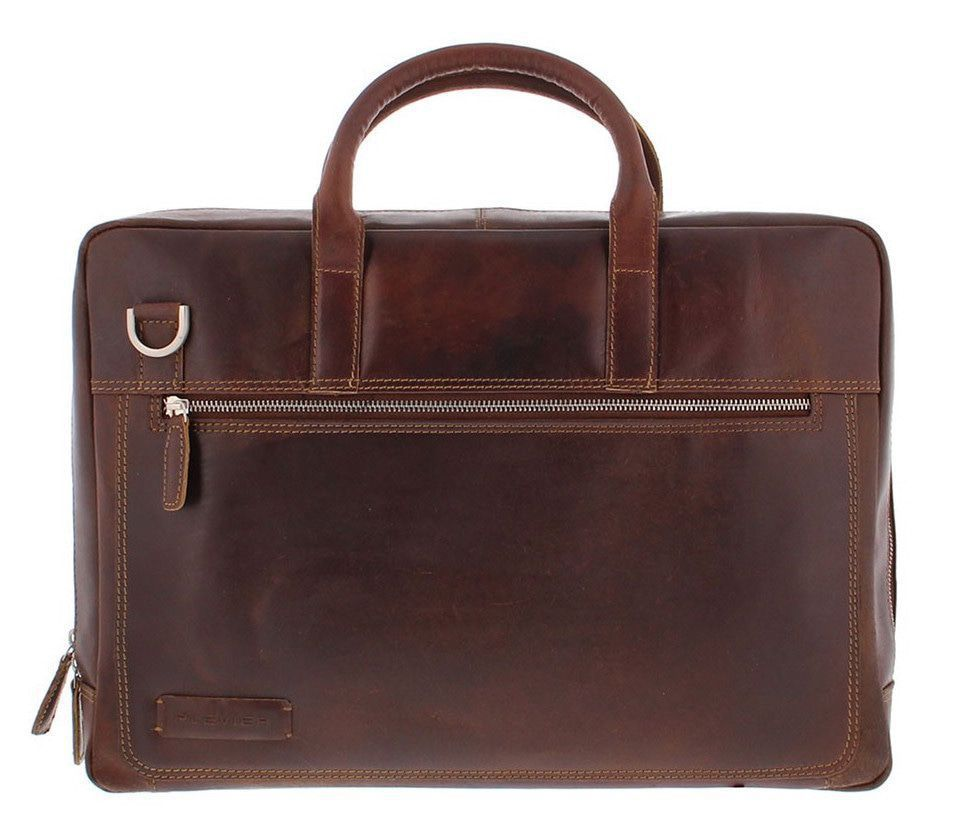 Plevier 38 Business Laptoptas Donkerbruin 17 inch