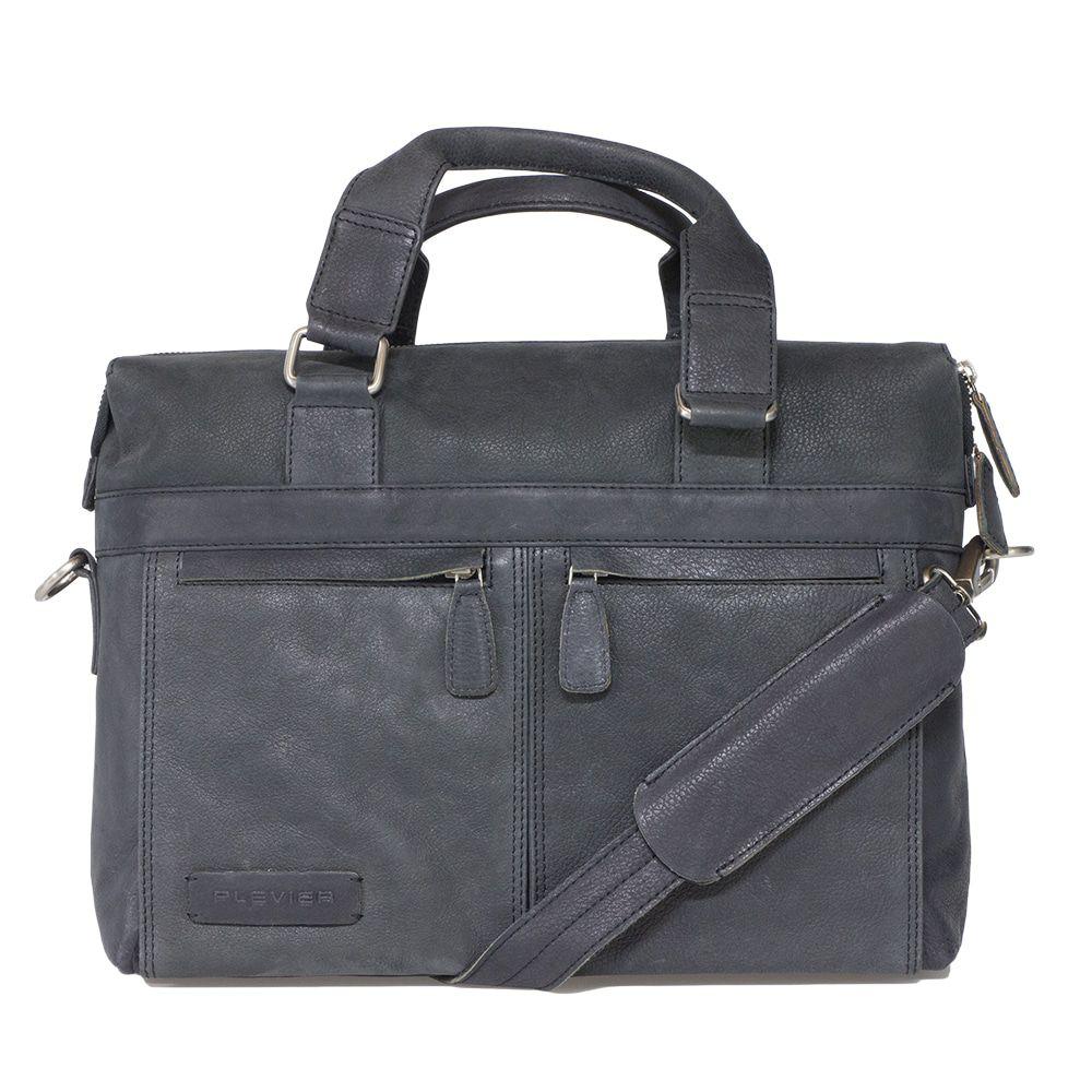 Laptoptas Plevier Crunch Leather Business Laptoptas Black 14 inch