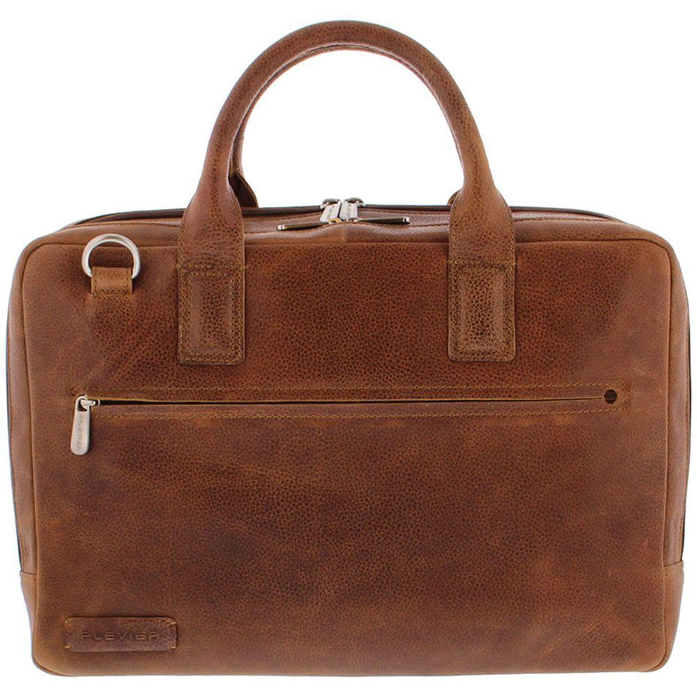 Plevier Heren Leren Laptoptas 17 inch Urban 482 Cognac