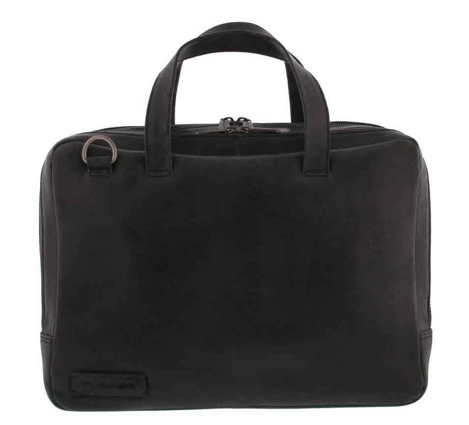 Laptoptas Plevier Pure Business Laptoptas 2 Vaks 707 Zwart 14 inch