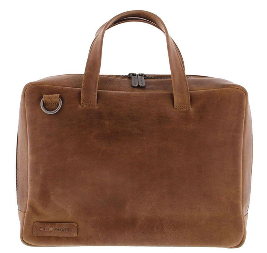 Laptoptas Plevier Pure Business Laptoptas 1 Vaks 705 Cognac 14 inch