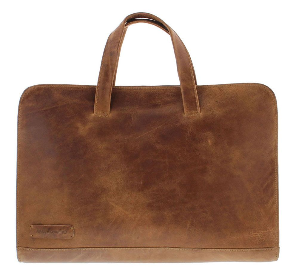Laptoptas Plevier Pure Laptop Sleeve Cognac 15 inch