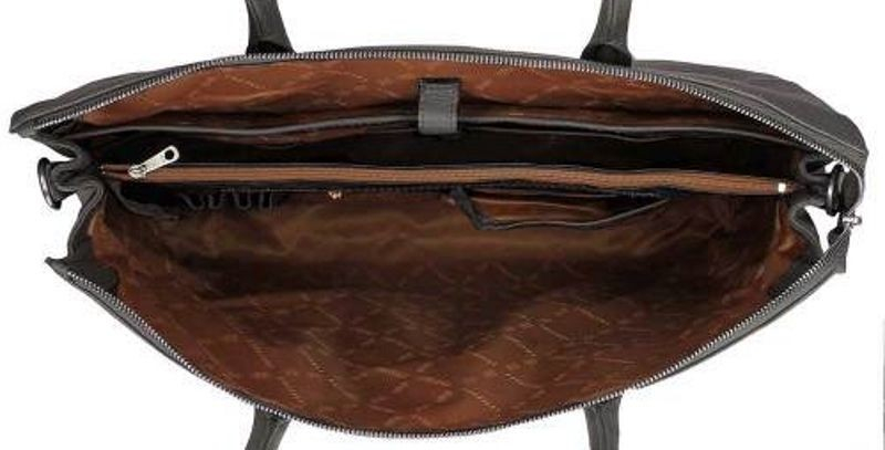 Laptoptas Gigi Fratelli Dames Leren Laptoptas 15 inch Romance Business ROM8006 Smoke