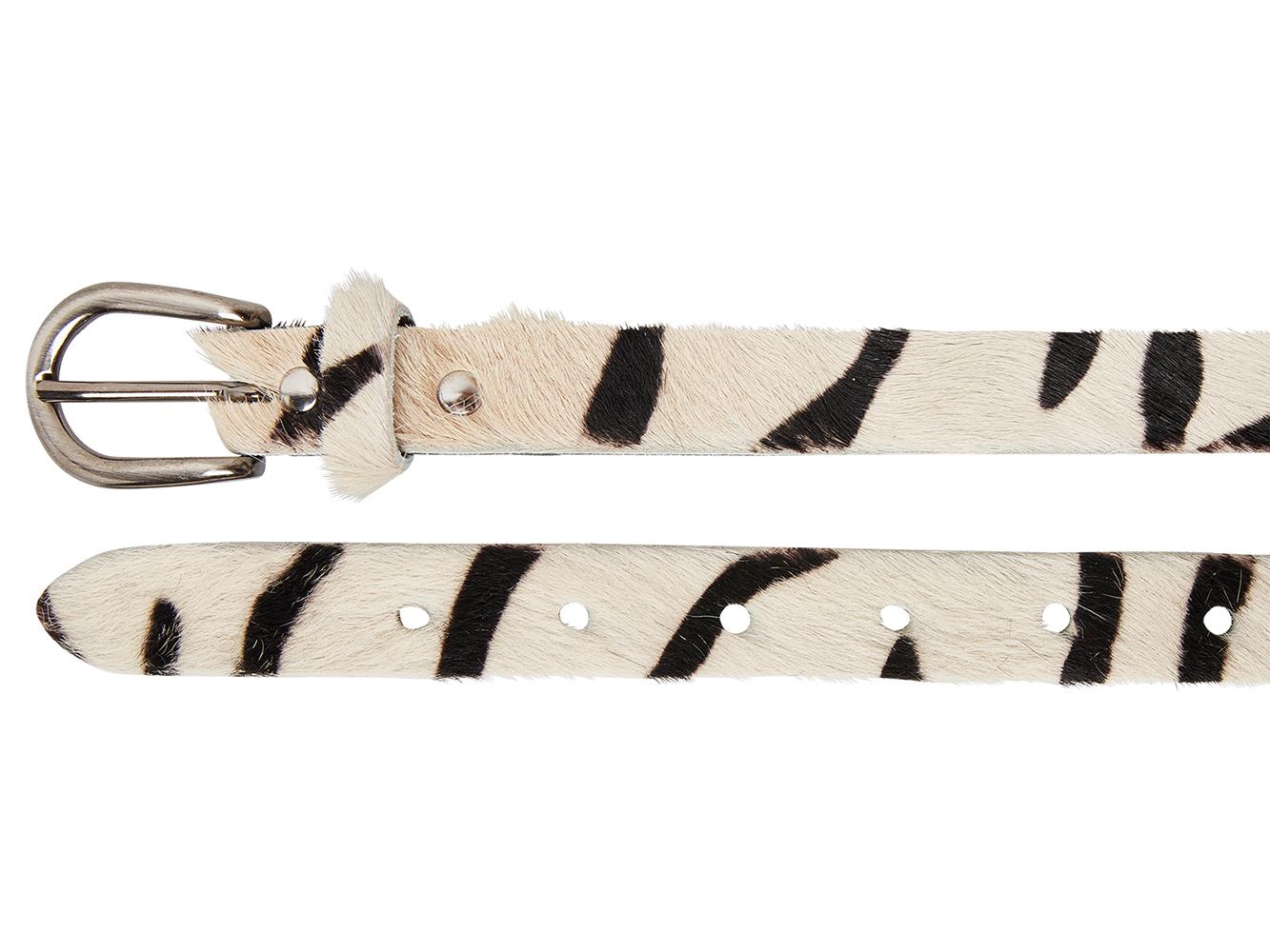 Take-It 25498 Dames Leren Fashion Riem 95/2,5 cm Zebra Vacht