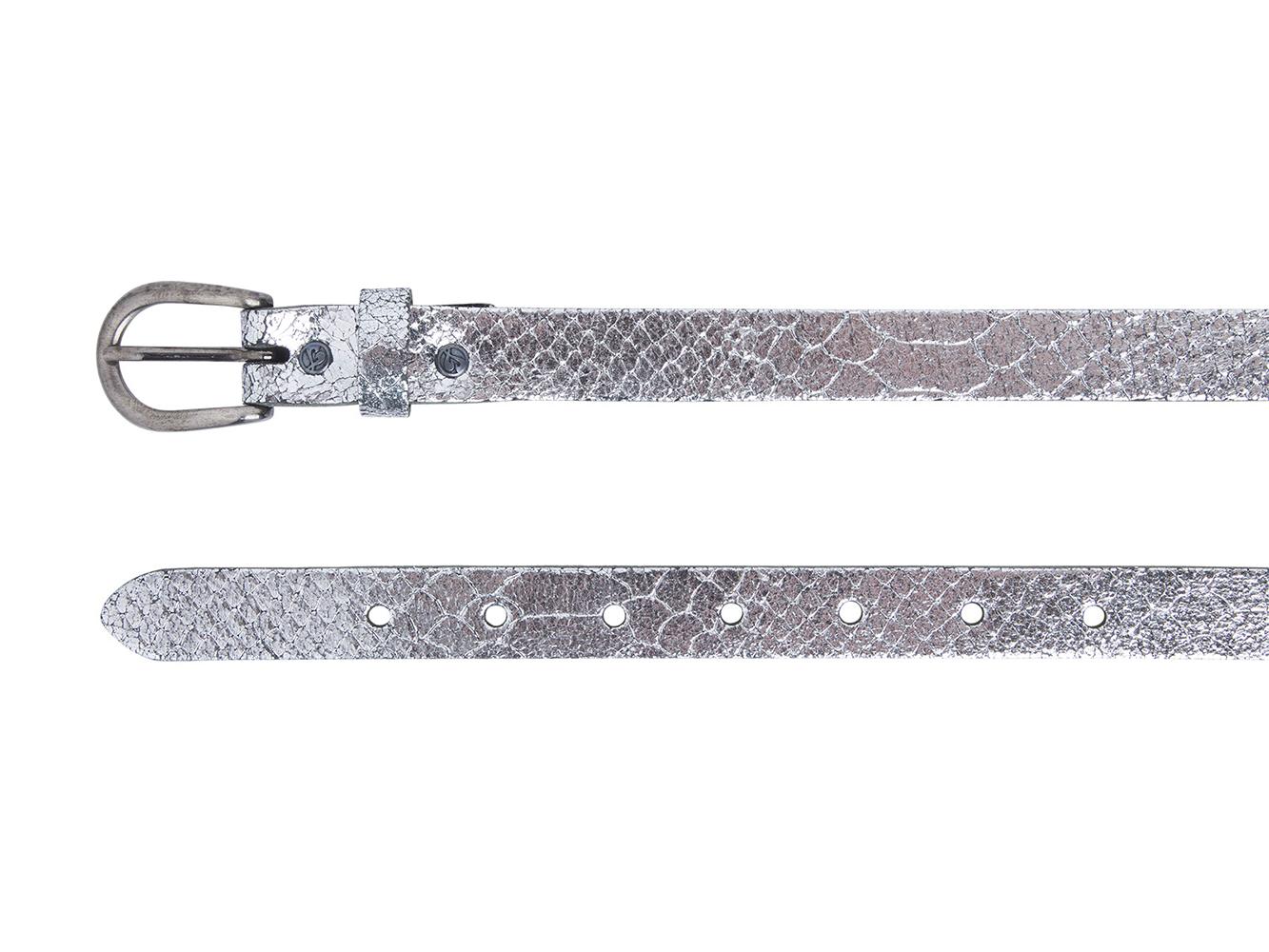 Take-It 414 Dames Leren Fashion Riem 95/2 cm Silver Metallic