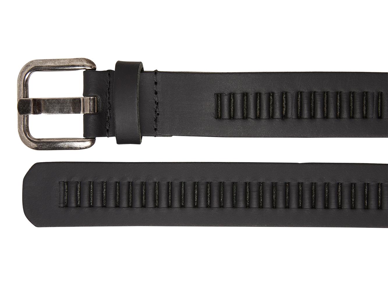 Timbelt 427 Leren Casual - Jeans Riem 105/4 cm Zwart
