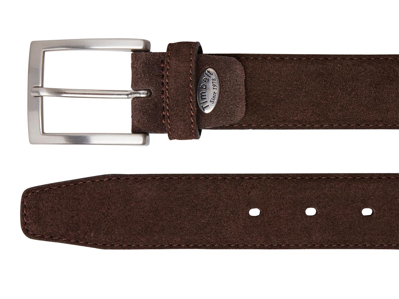 Timbelt 508 Heren Suède Leren Pantalon Riem 105/3,5 cm Bruin