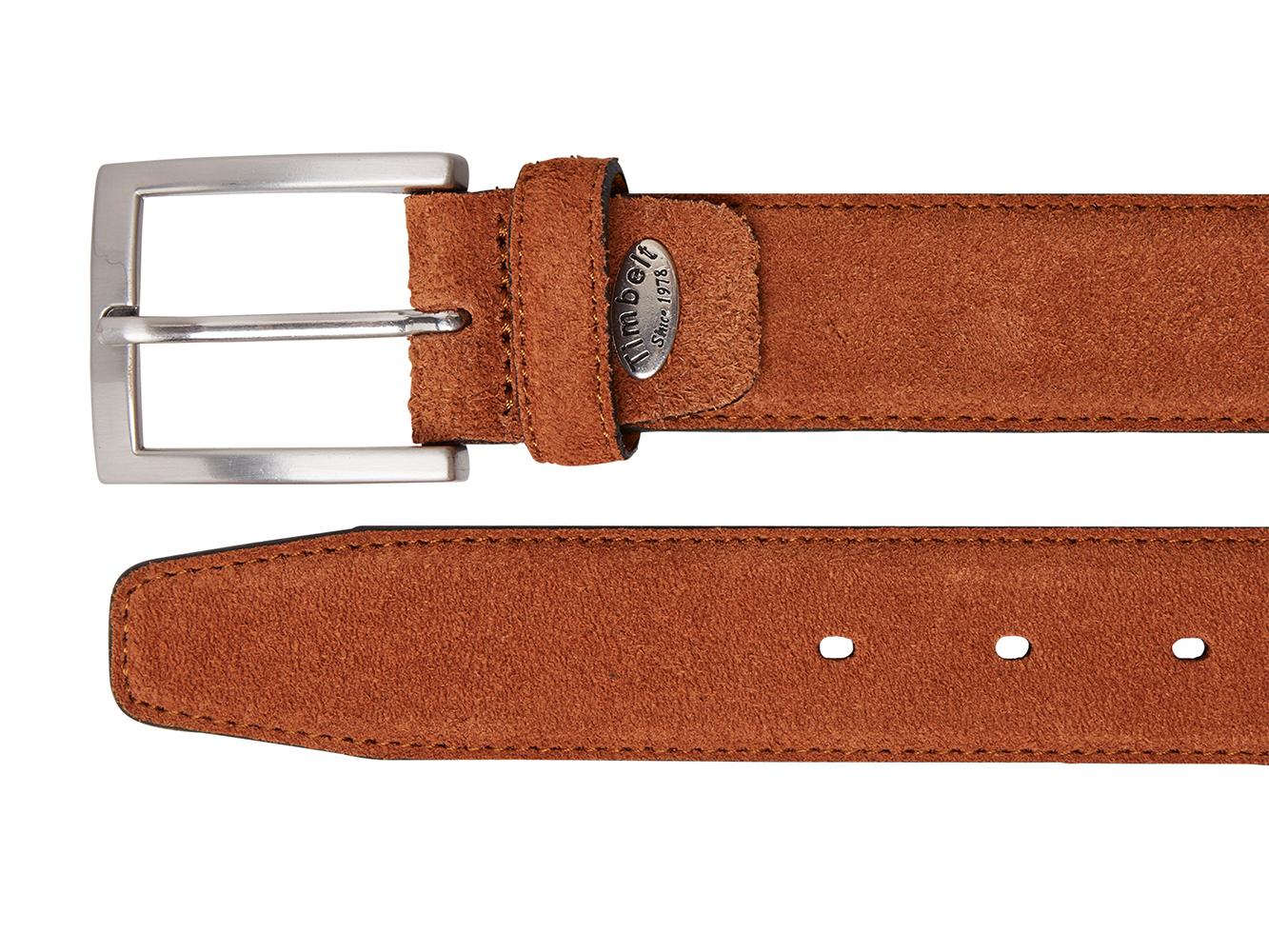 Timbelt 508 Heren Suède Leren Pantalon Riem 105/3,5 cm Cognac