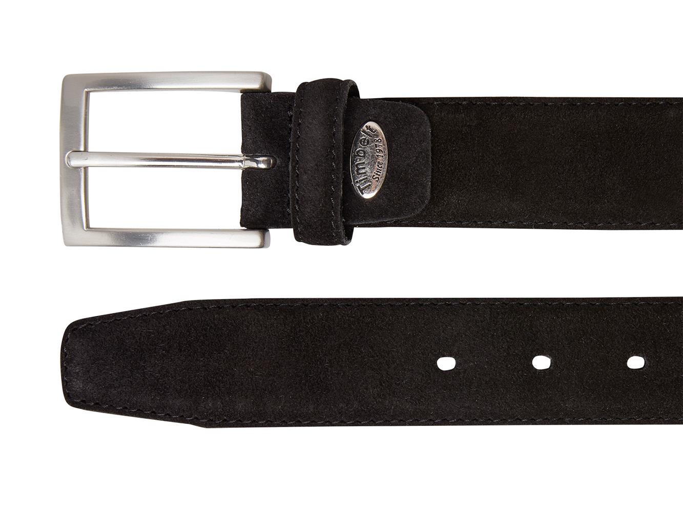 Timbelt 508 Heren Suède Leren Pantalon Riem 105/3,5 cm Zwart