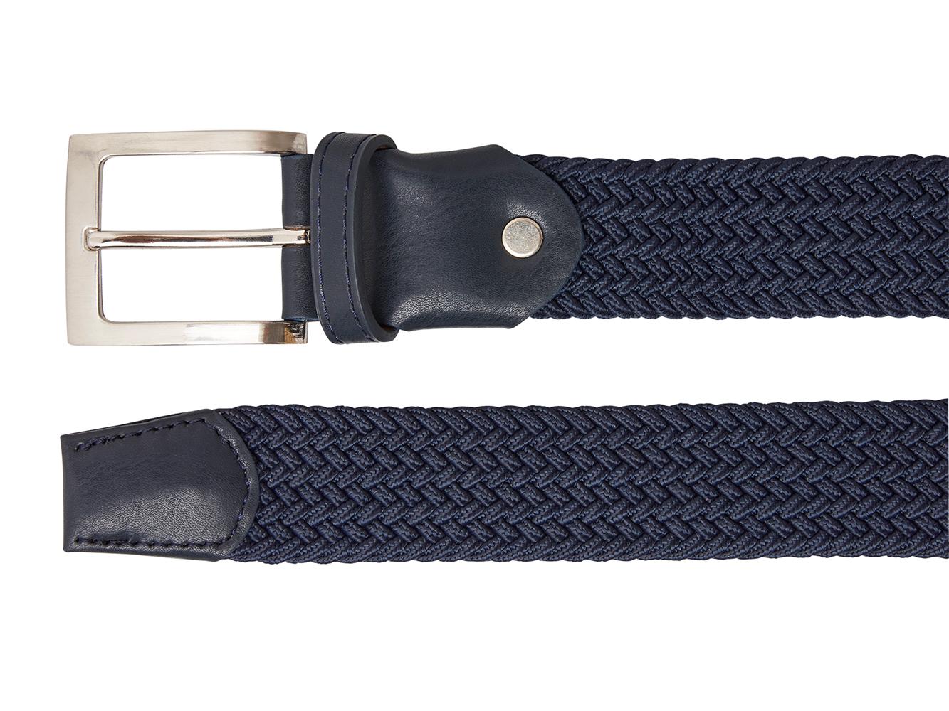 Timbelt 70113 Elastische Band Riem 110/3,5 cm Navy-Blauw