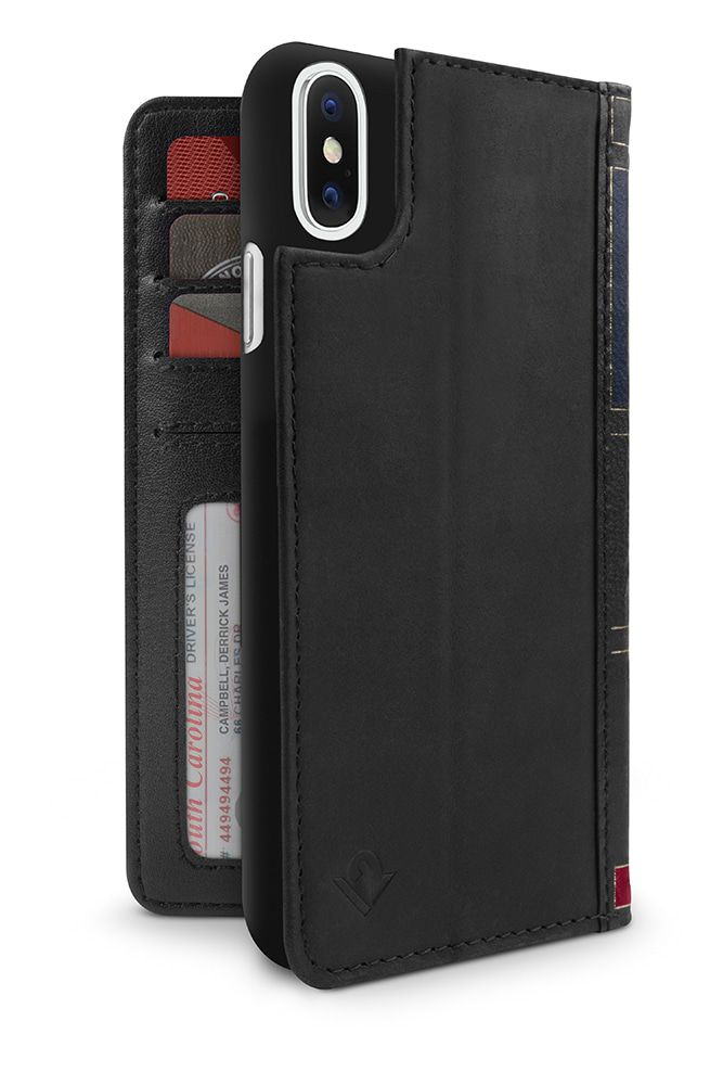 Twelve South BookBook iPhone X Case Wallet Black