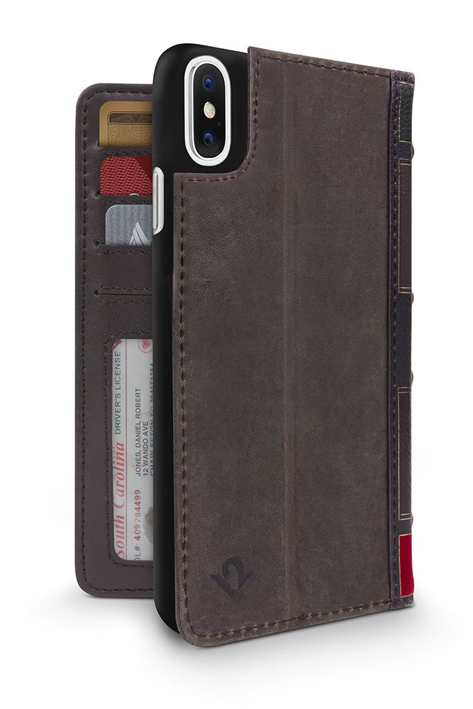 Twelve South BookBook iPhone X Case Wallet Brown