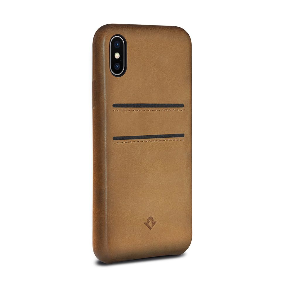Twelve South Relaxed Leather Case Pockets iPhone X Cognac