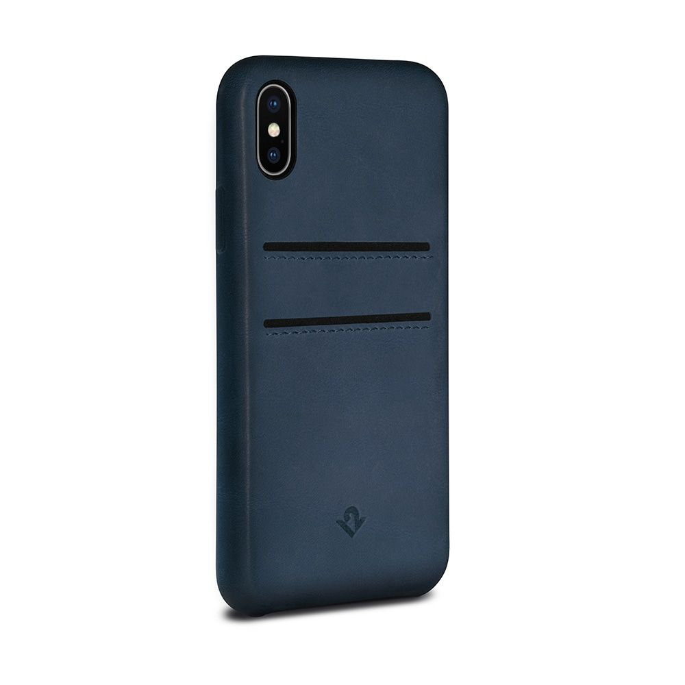 Twelve South Relaxed Leather Case Pockets iPhone X Indigo