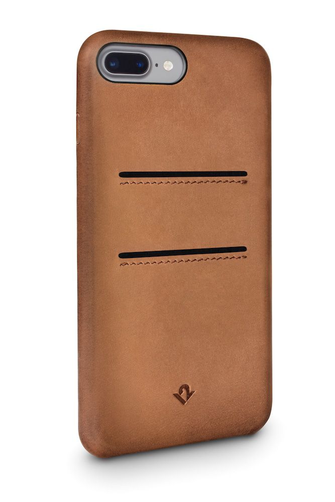 Twelve South Relaxed Leather Case Pockets iPhone 8 Plus / 7 Plus Cognac