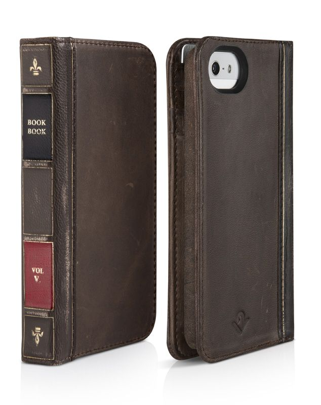 iPhone hoesje Twelve South BookBook iPhone 5/5S/SE Case Wallet Vintage Brown