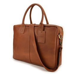 Burkely Taylor Business Vintage Shoulderbag Cognac 17 inch